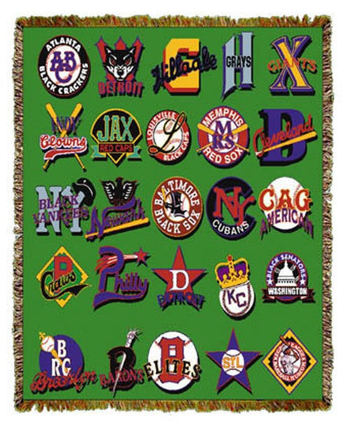 Negro Baseball League Logos Tapestry Throw