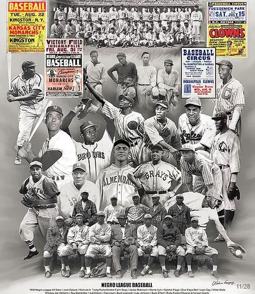 Negro League Baseball Legends by Wishum Gregory