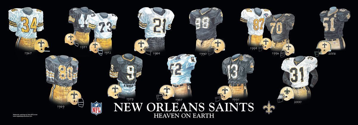 New Orleans Saints: Heaven on Earth Poster by Nola McConnan