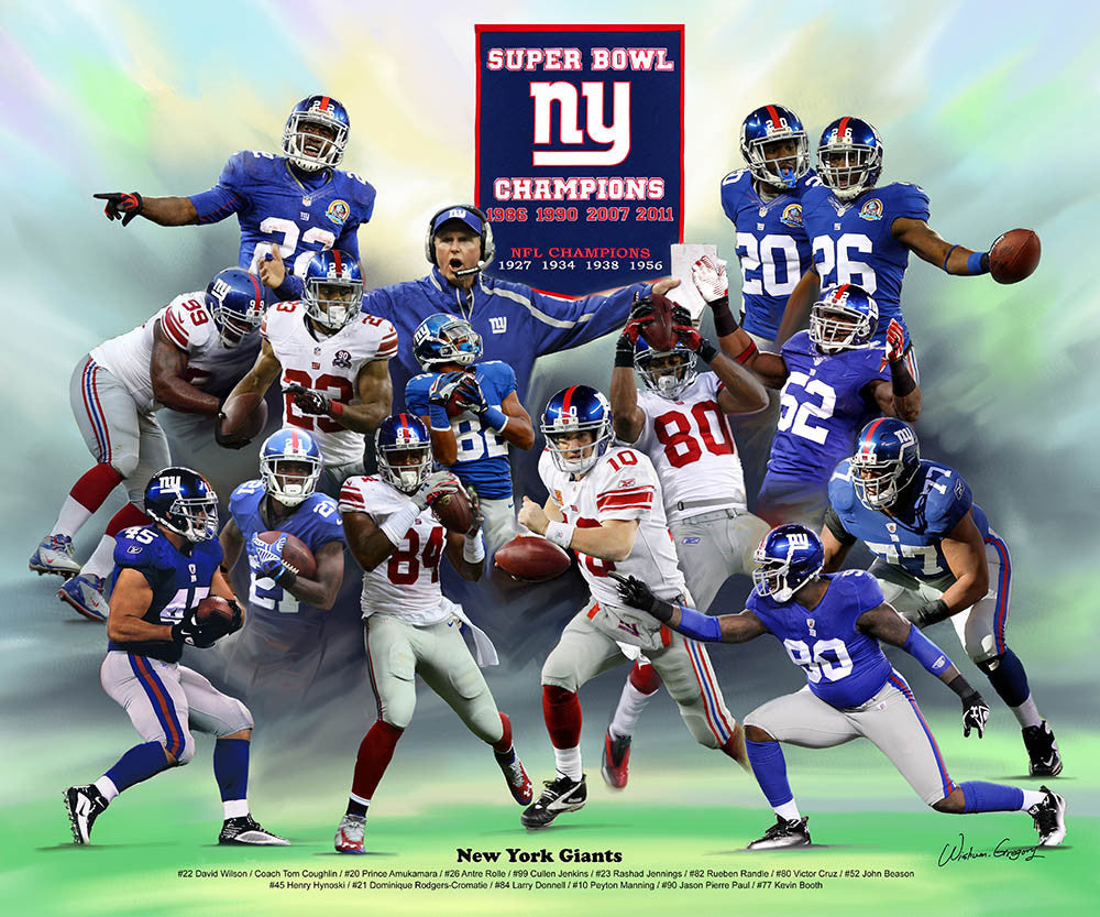 New York Giants (2014 Version) by Wishum Gregory