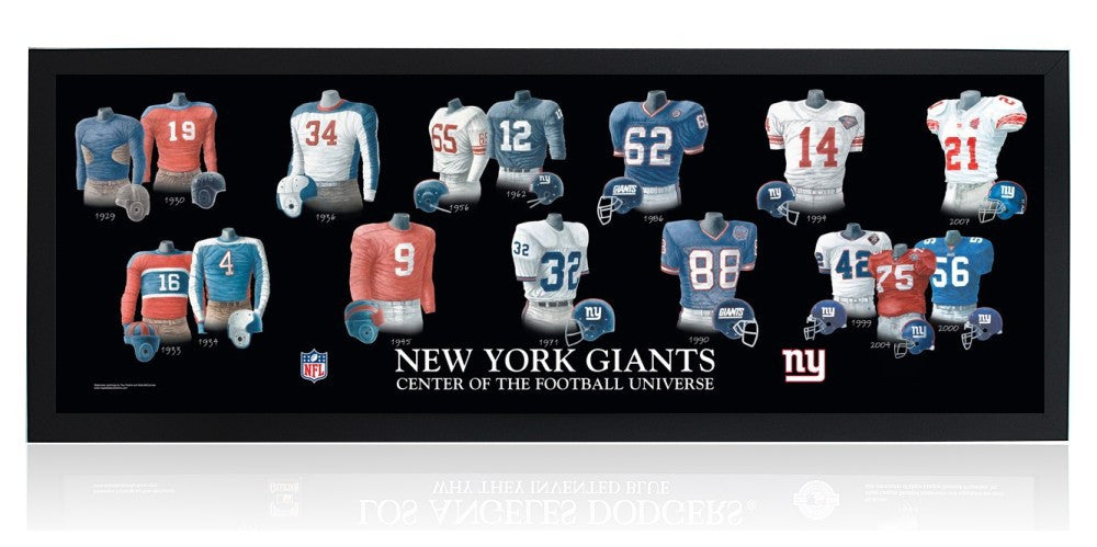 New York Giants: Center of the Football Universe (Black Frame)