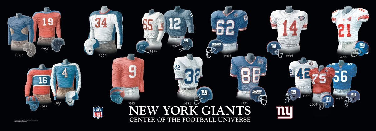 New York Giants: Center of the Football Universe Poster by Nola McConnan and Tino Paolini