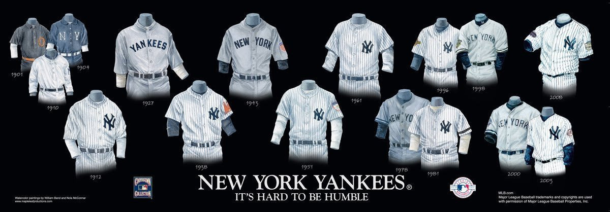 New York Yankees: It's Hard to be Humble Poster by Nola McConnan and William Band
