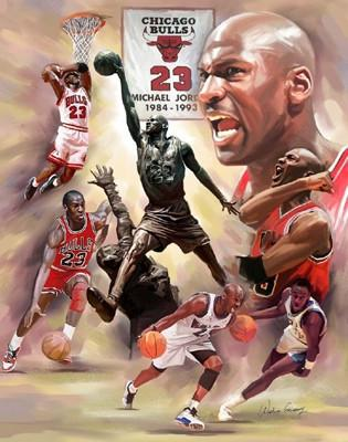 No. 23: Michael Jordan by Wishum Gregory