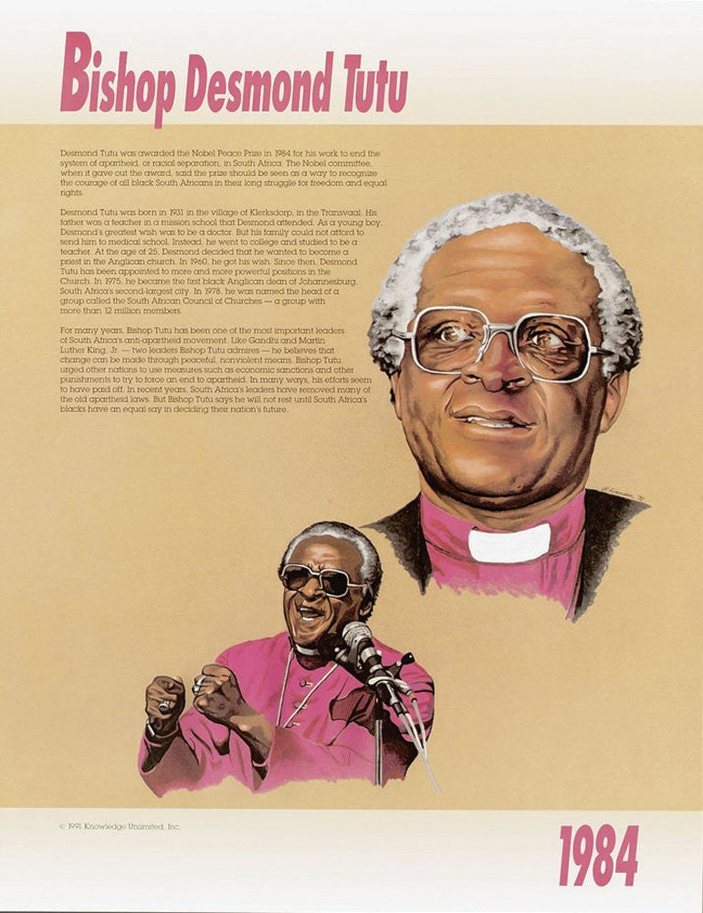 Great Black Americans: Bishop Desmond Tutu Poster by Knowledge Unlimited