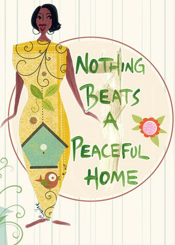 Nothing Beats a Peaceful Home Magnet by Cidne Wallace