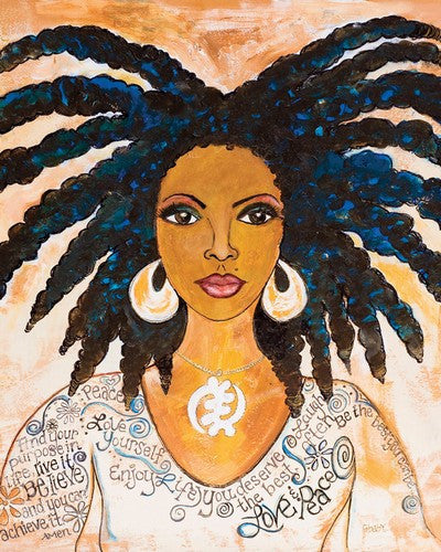 "Nubian Queen Magnet by Sylvia ""GBaby"" Cohen"