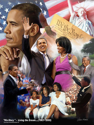 His-Story: Living the Dream (Barack Obama) by Wishum Gregory