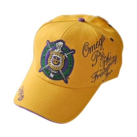 Omega Psi Phi Baseball Cap by Big Boy Headgear