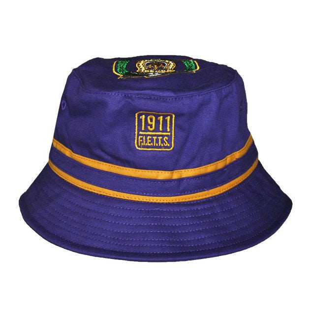 Omega Psi Phi Purple and Old Gold Bucket Hat by Big Boy Headgear ... 07e884b25df