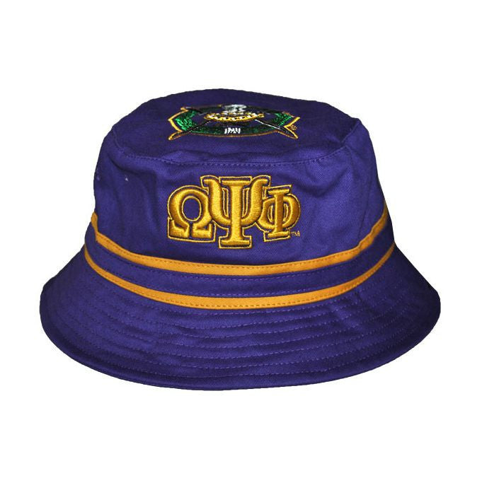 Omega Psi Phi Bucket Cap (Front) by Big Boy Headgear