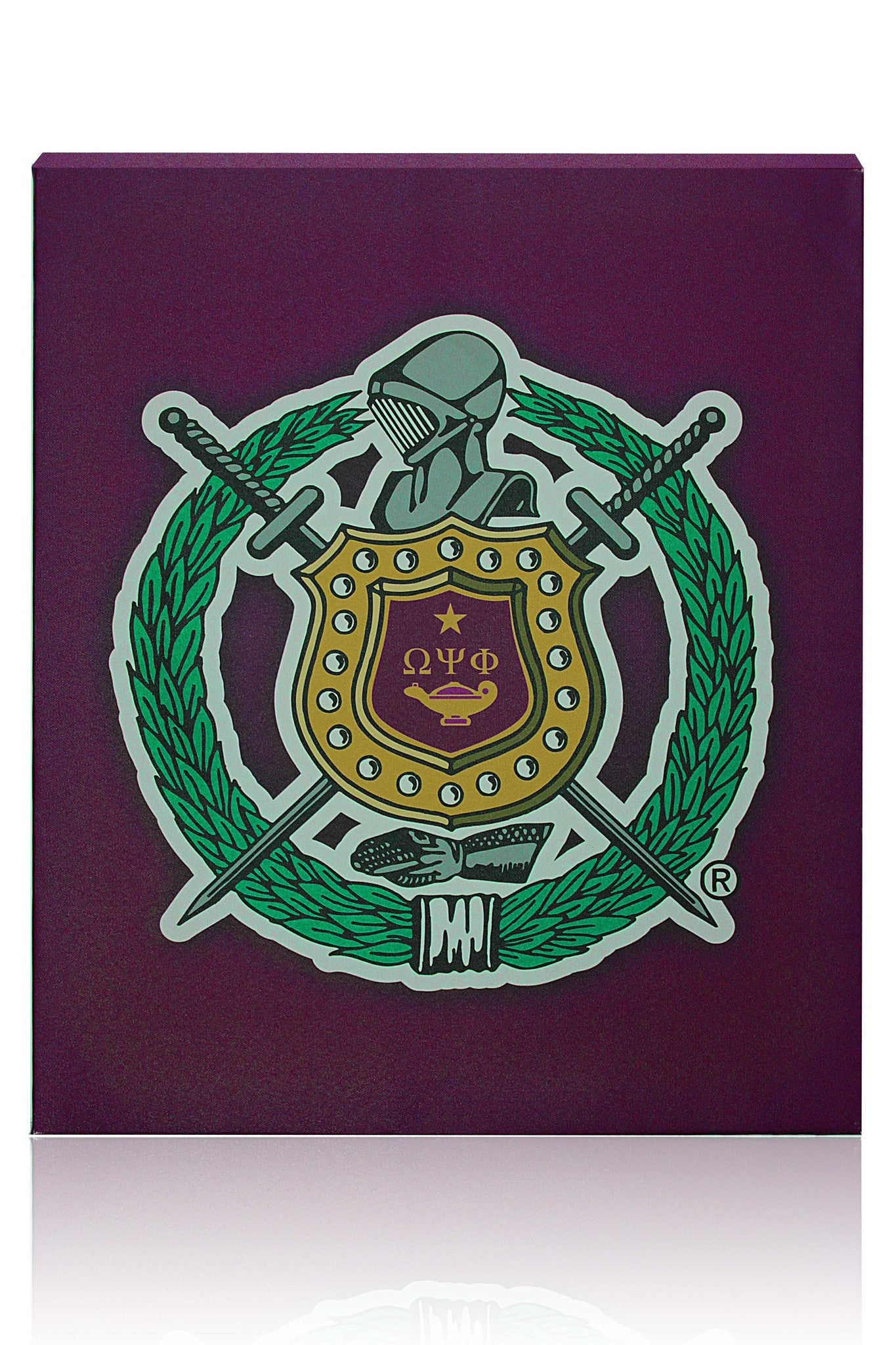 Omega Psi Phi Canvas Wall Hanging The Black Art Depot