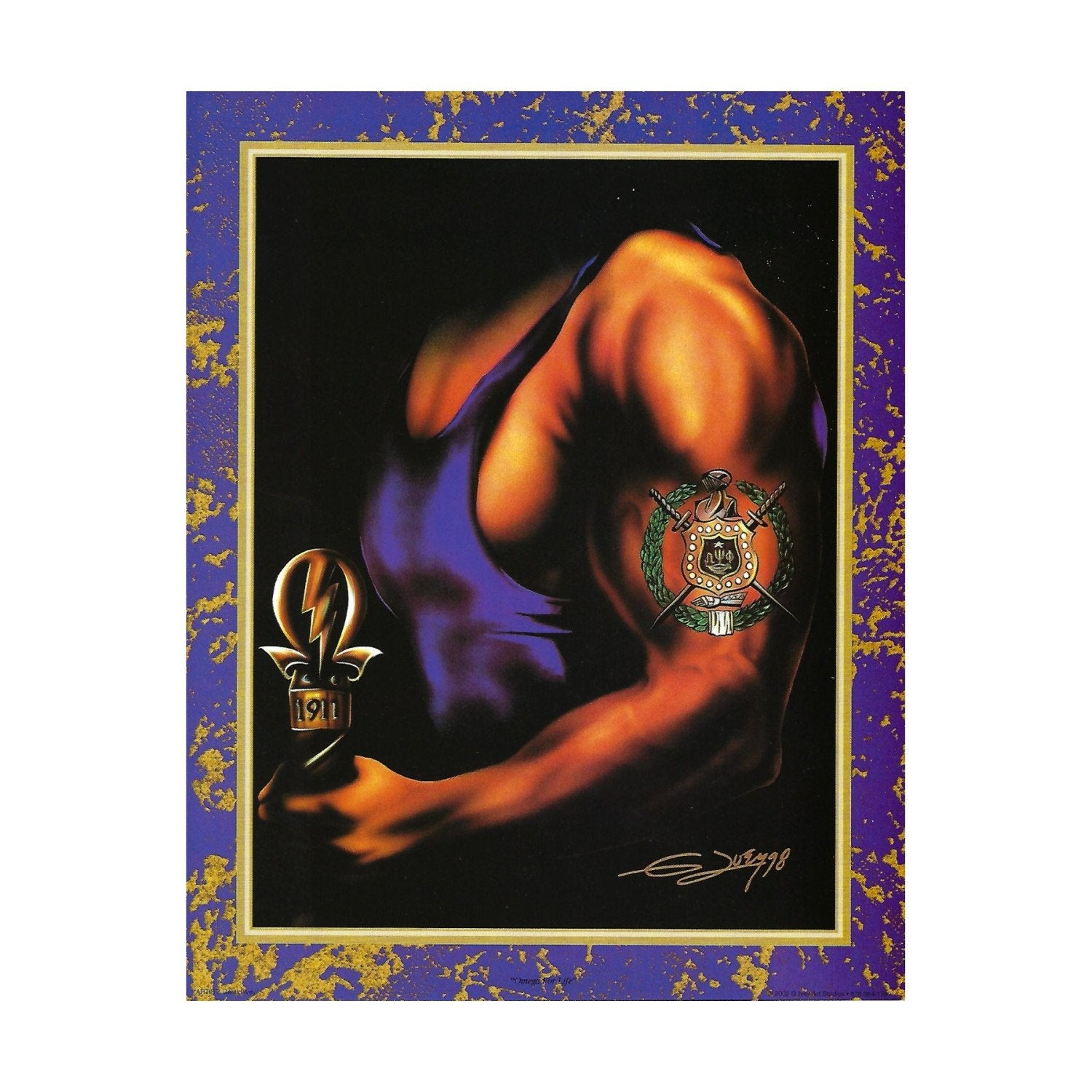 Omega for Life (Omega Psi Phi) by Gerald Ivey (Mini Print)