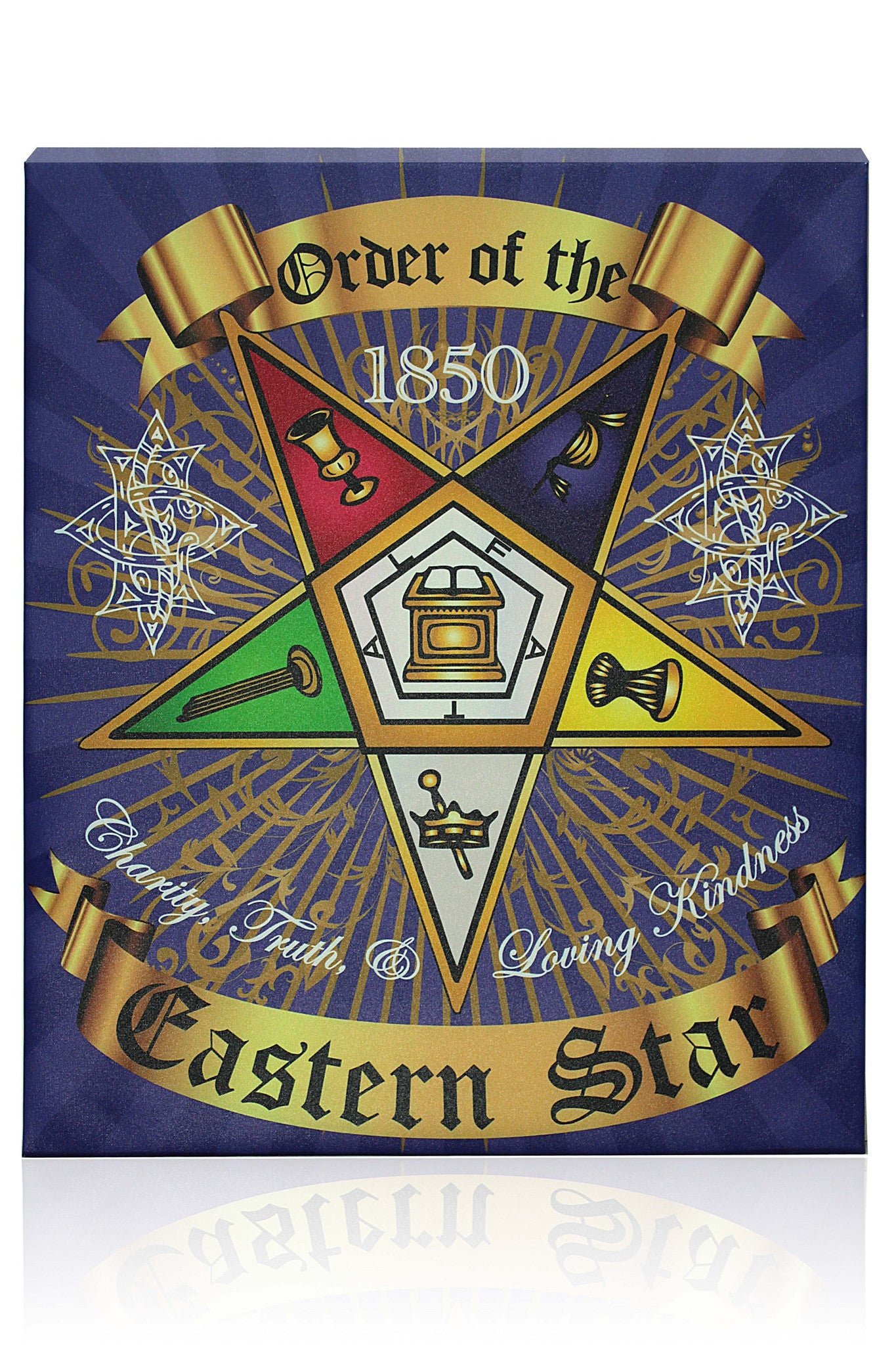 Order of the Eastern Star Canvas Wall Hanging