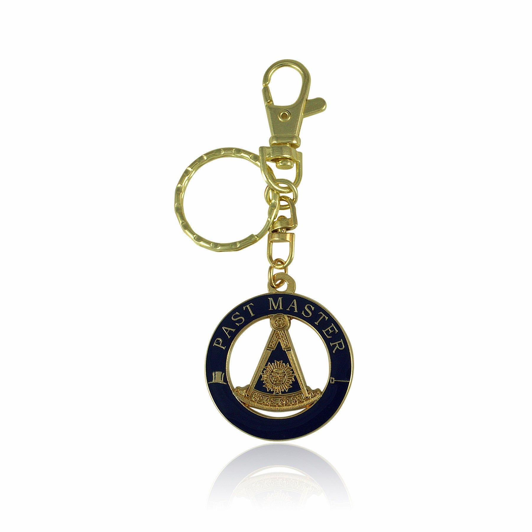 Past Master Masonic Key Chain with Hook by UniverSoul Gifts