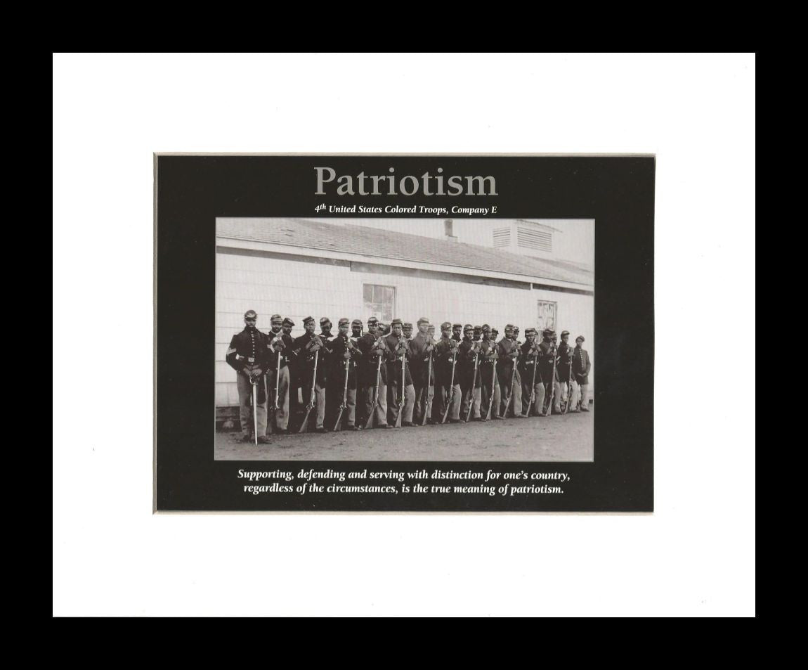 Patriotism (Black Civil War Soldiers) by D'azi Productions (Black Frame)