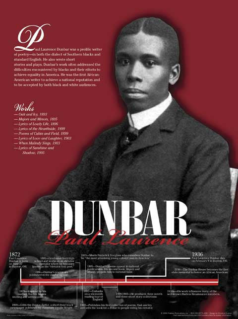 Paul Laurence Dunbar Timeline Poster by Techdirections