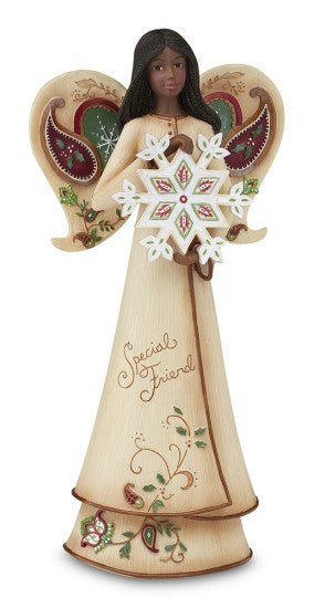 Special Friend Angel With Snowflake Figurine by Perfect Paisley