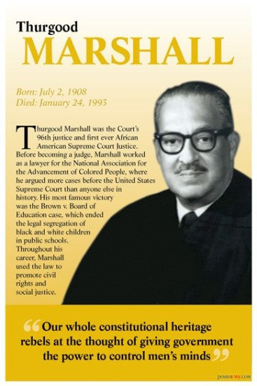 Thurgood Marshall: Constitutional Heritage by Poster Envy