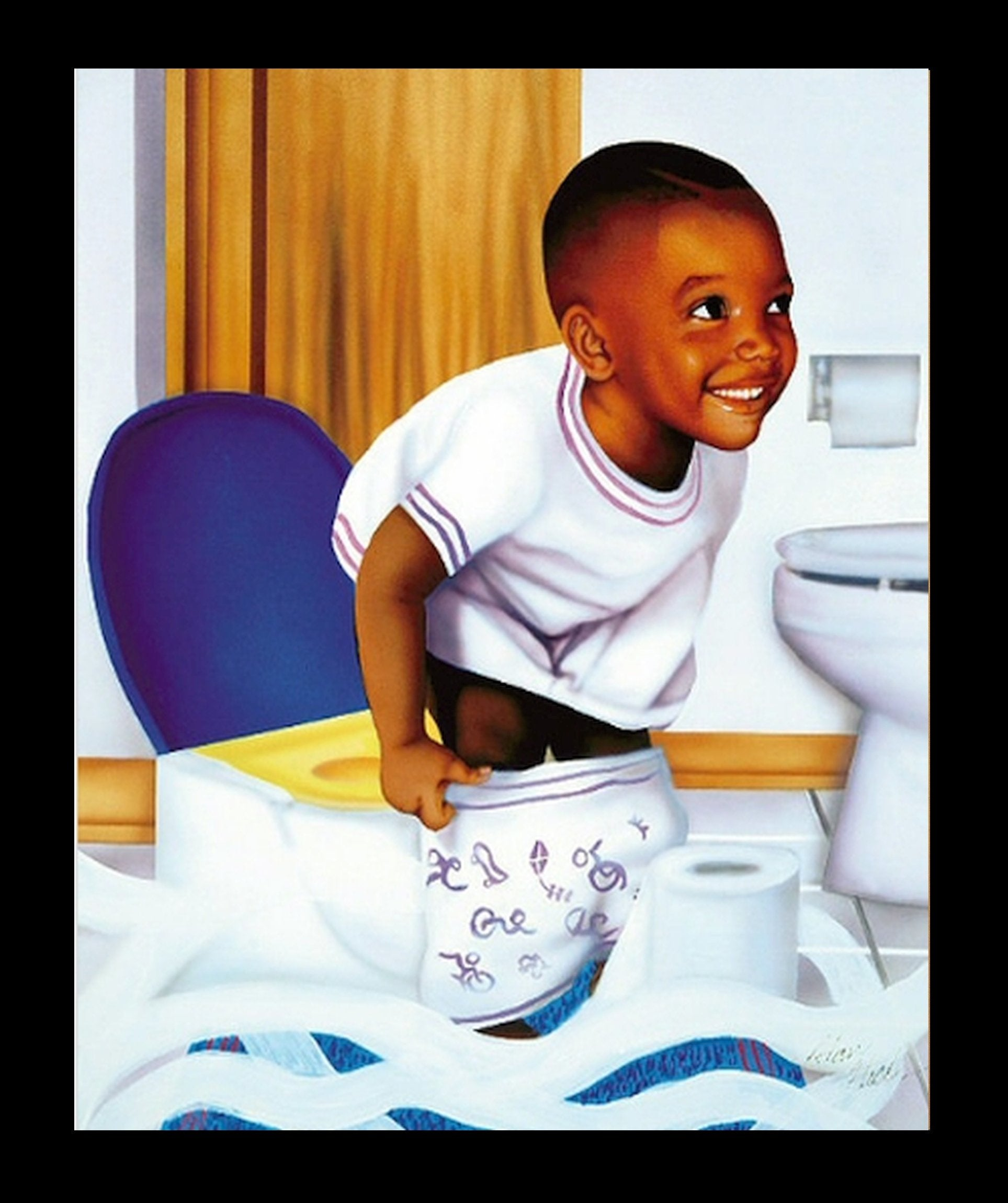 Potty Boy by Aaron and Alan Hicks (Black Frame)