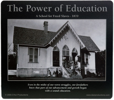 The Power of Education: African American Motivational Mousepad by D'azi Productions