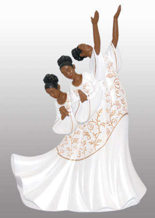Giving Praise (White): Praise Dancer Figurine
