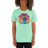 Praise Him by D.D. Ike: African American Religious Short Sleeve T-Shirt (Heather Mint)
