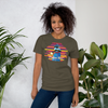 Praise Him by D.D. Ike: African American Religious Short Sleeve T-Shirt (Army)