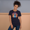 Praise Him by D.D. Ike: African American Religious Short Sleeve T-Shirt (Navy Blue