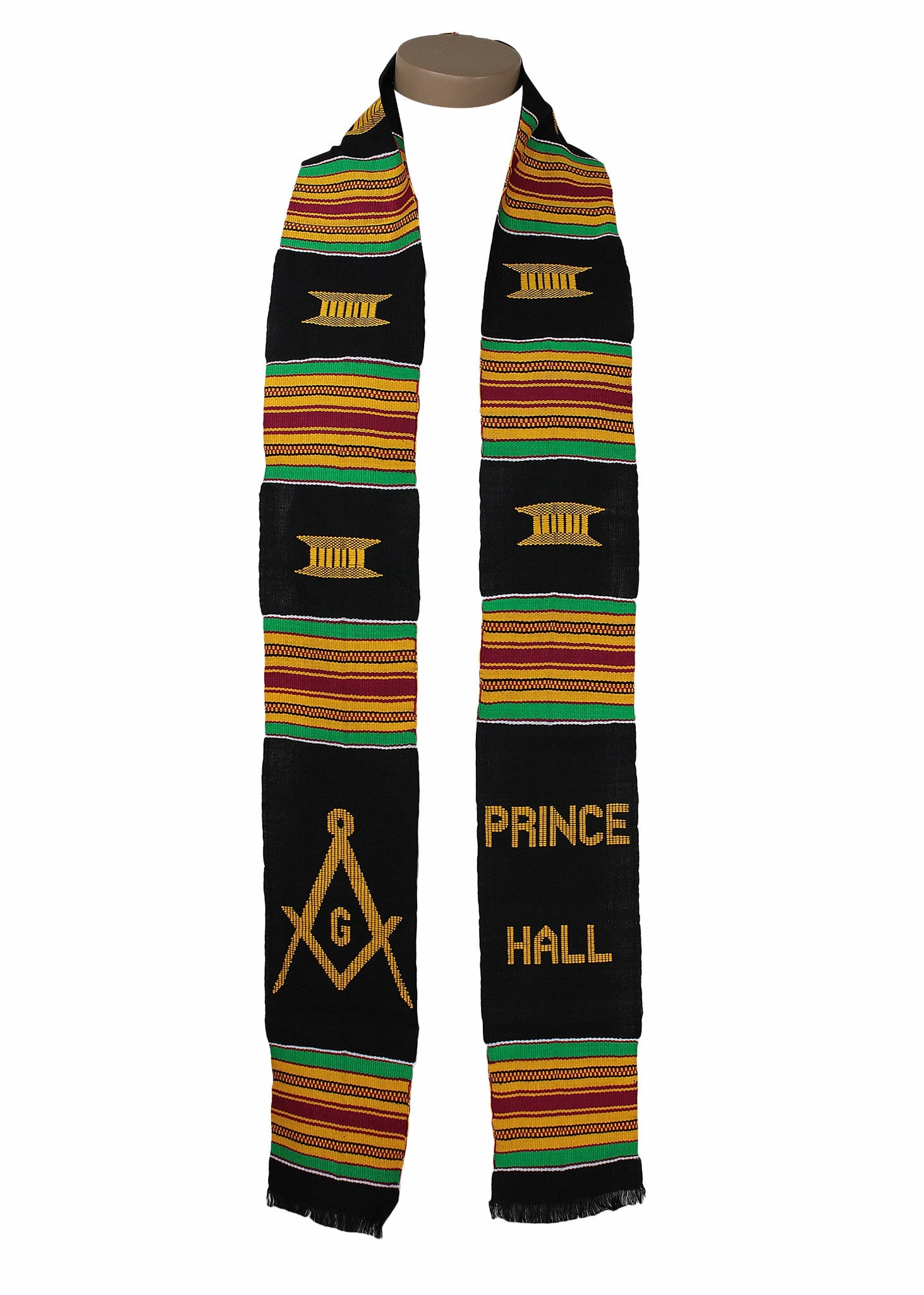 Prince Hall Masonic Kente Stole By Gold Coast Africa