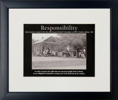 Responsiblity by D'azi Productions (Black Frame)