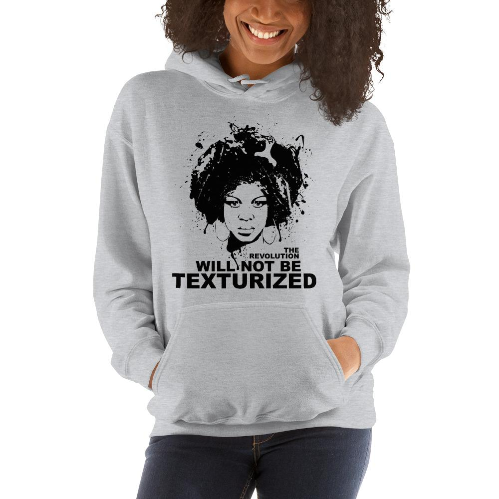 The Revolution Will Not Be Texturized: African American Unisex Hoodie by RBG Forever