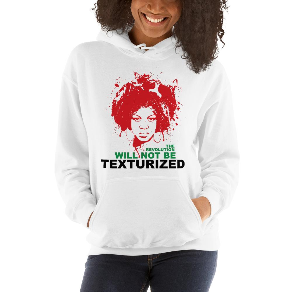 The Revolution Will Not Be Texturized: African American Hooded Sweatshirt (RBG)