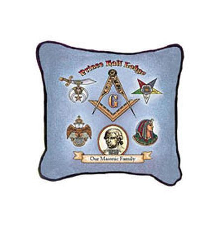 Prince Hall Throw Pillow: Our Masonic Family