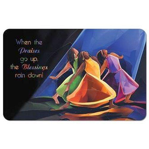 Praises Go Up by Carl M. Crawford: African American Memory Foam Bathroom Floor Mat