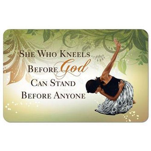 She Who Kneels by AAE: African American Memory Foam Bathroom Floor Mat