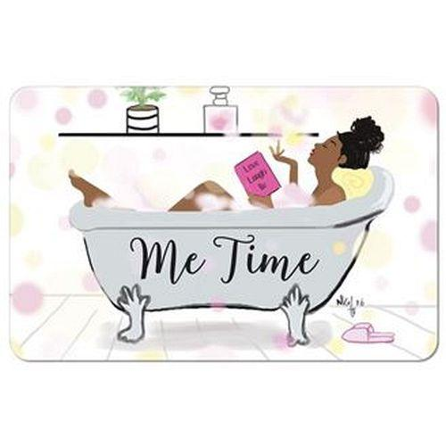 Some Me Time by Nicholle Kobi: African American Memory Foam Bathroom Floor Mat