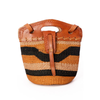 Authentic African Hand Made Sisal and Leather Cowgirl Hand Bag