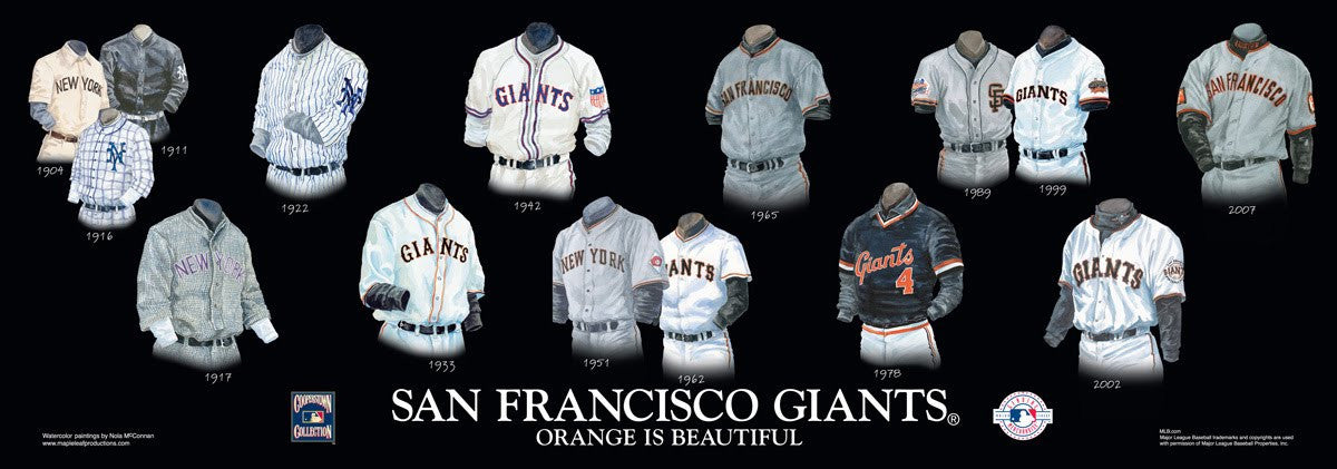 San Francisco Giants: Orange is Beautiful Poster by Nola McConnan