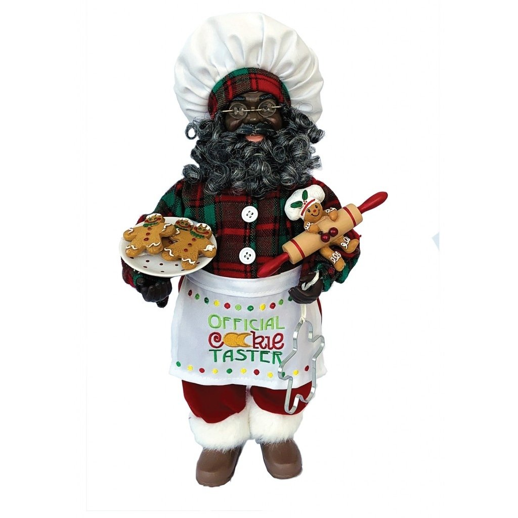 African American Santa Claus: Officia Cookie Taster by Santa's Workshop
