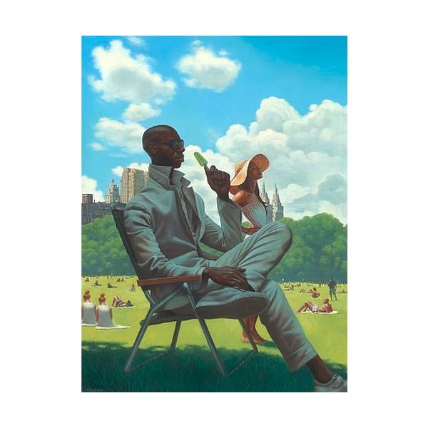 Savoring Summer by Kadir Nelson (New Yorker Magazine Cover)