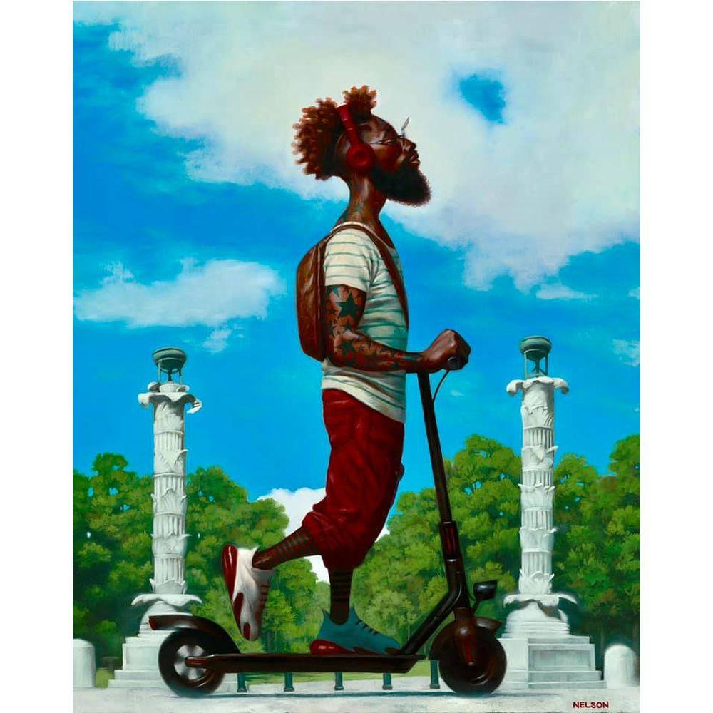 Scootr'E by Kadir Nelson (From the New Yorker Magazine)