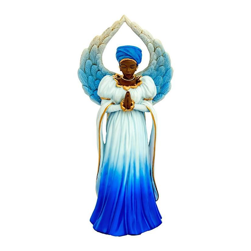 Serenity Angel in Blue: African American Figurine by Positive Image Gifts