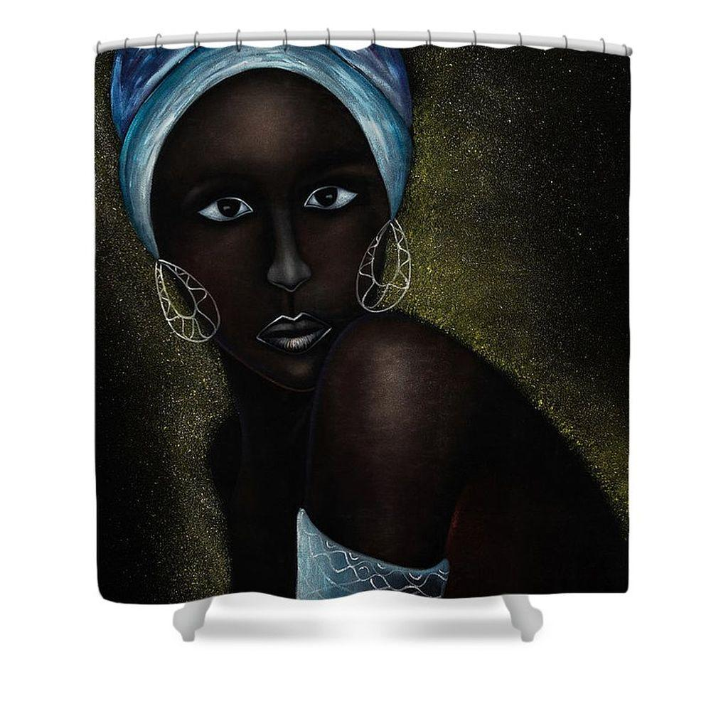 Radiant Beauty: African American Art Shower Curtain by Prince Eze