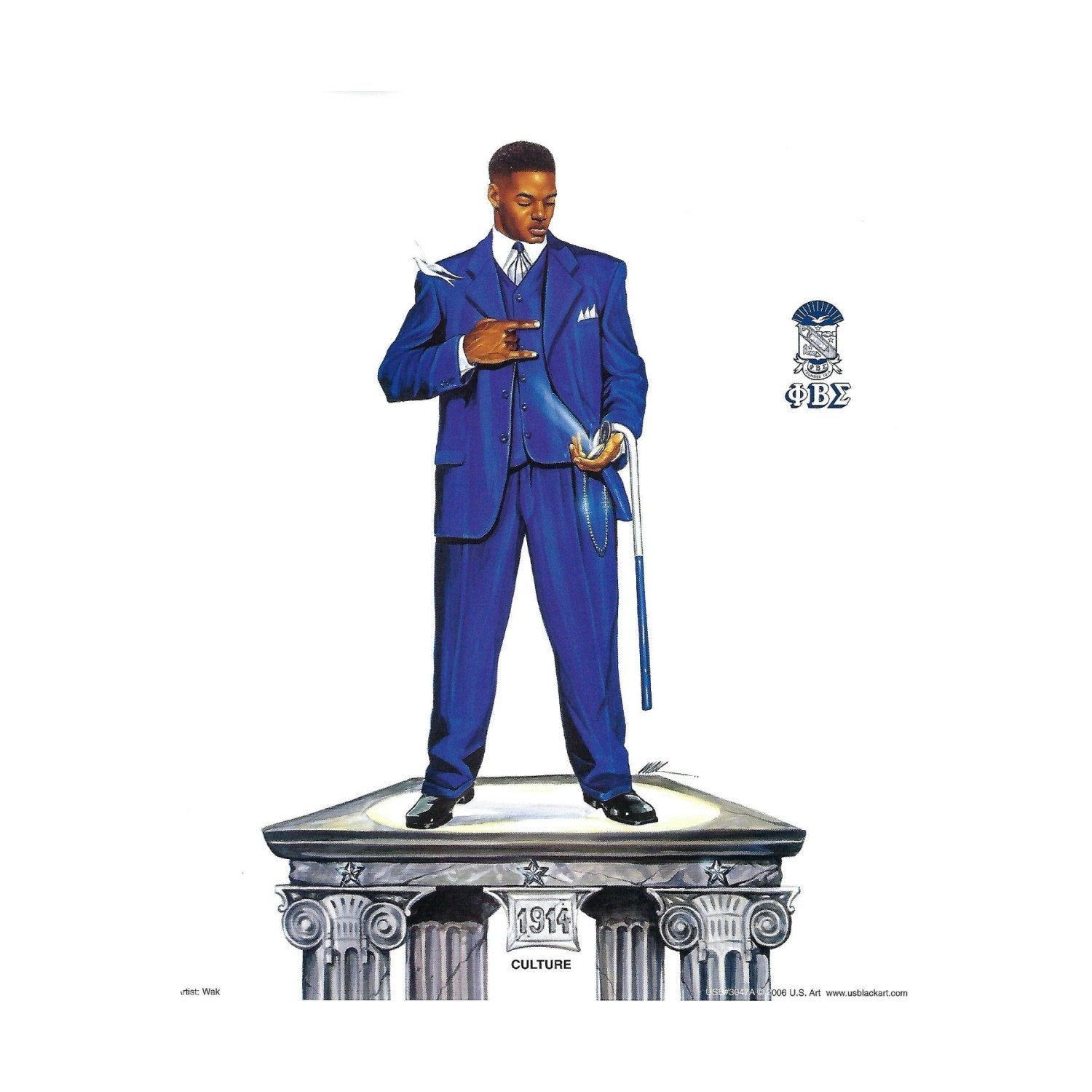 "Phi Beta Sigma (Culture) by Kevin ""WAK"" Williams (Art Print)"