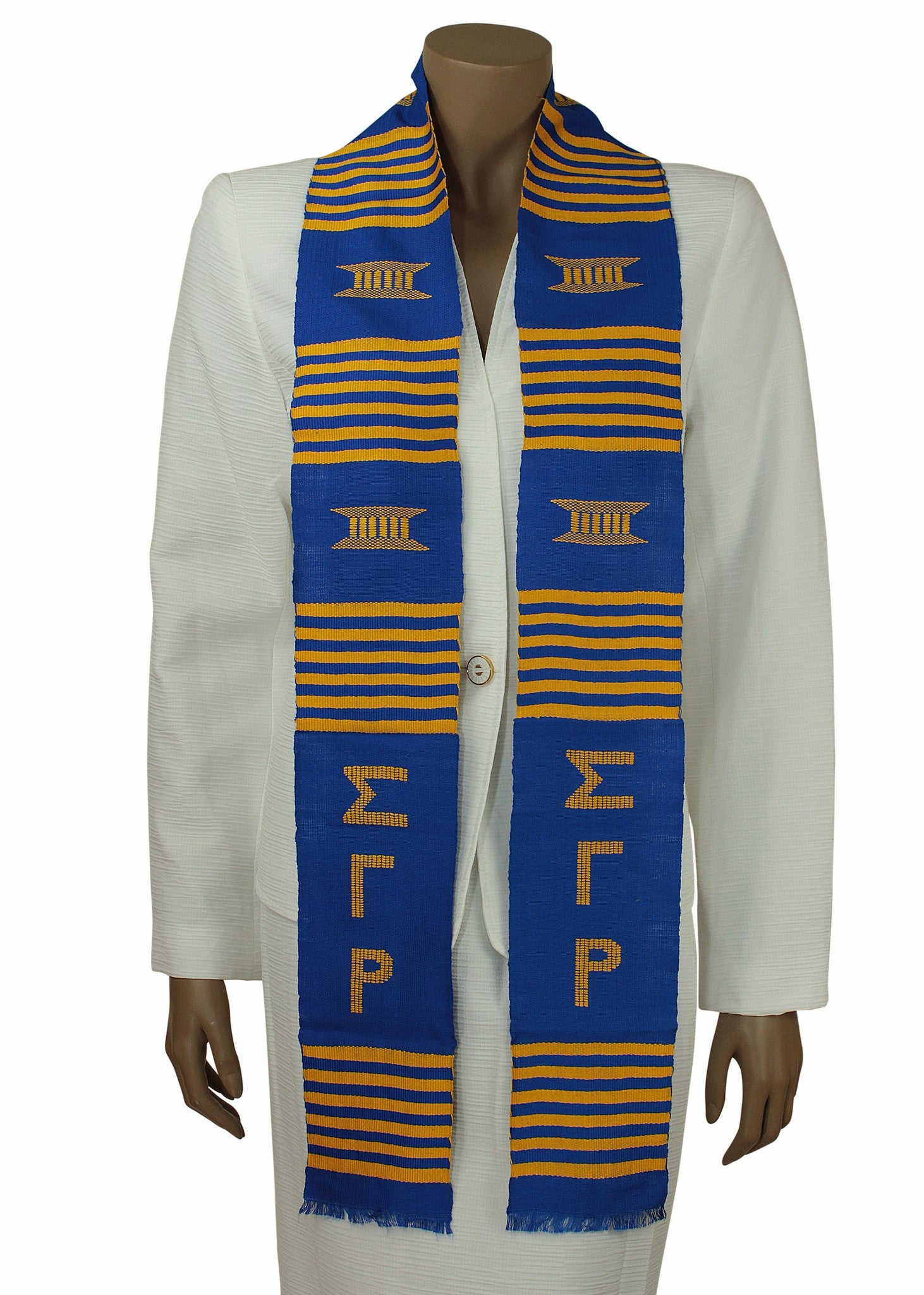 Sigma Gamma Rho Blue Kente Stole by Gold Coast Africa