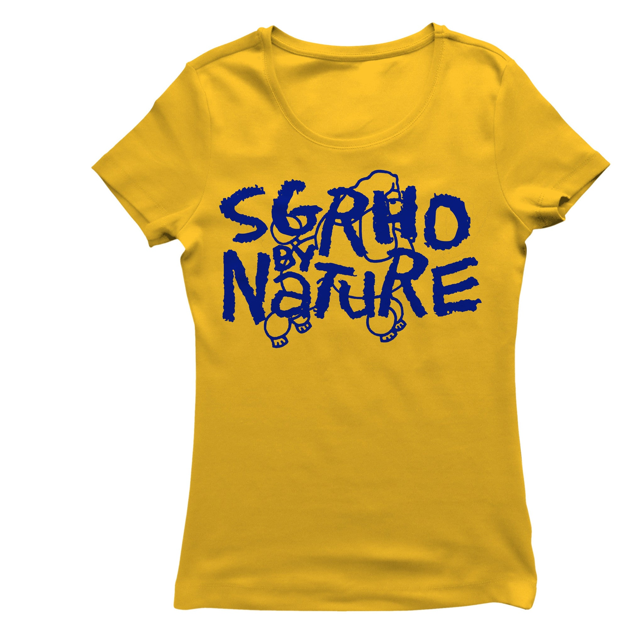 Sigma Gamma Rho SGRho By Nature Gold Women's Casual T-Shirt
