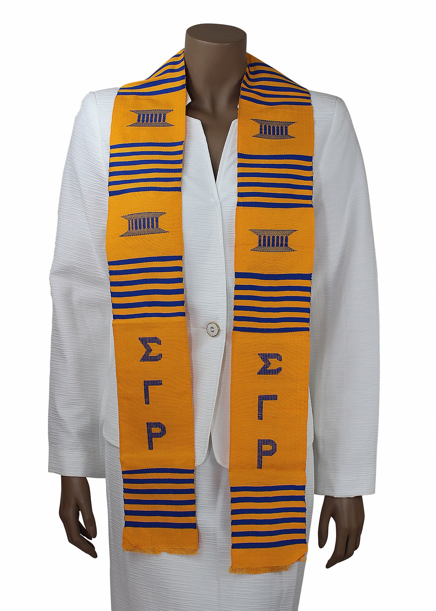 Sigma Gamma Rho Gold Kente Stole by Gold Coast Africa