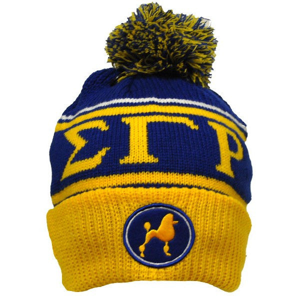 Sigma Gamma Rho Poodle Beanie (Front)