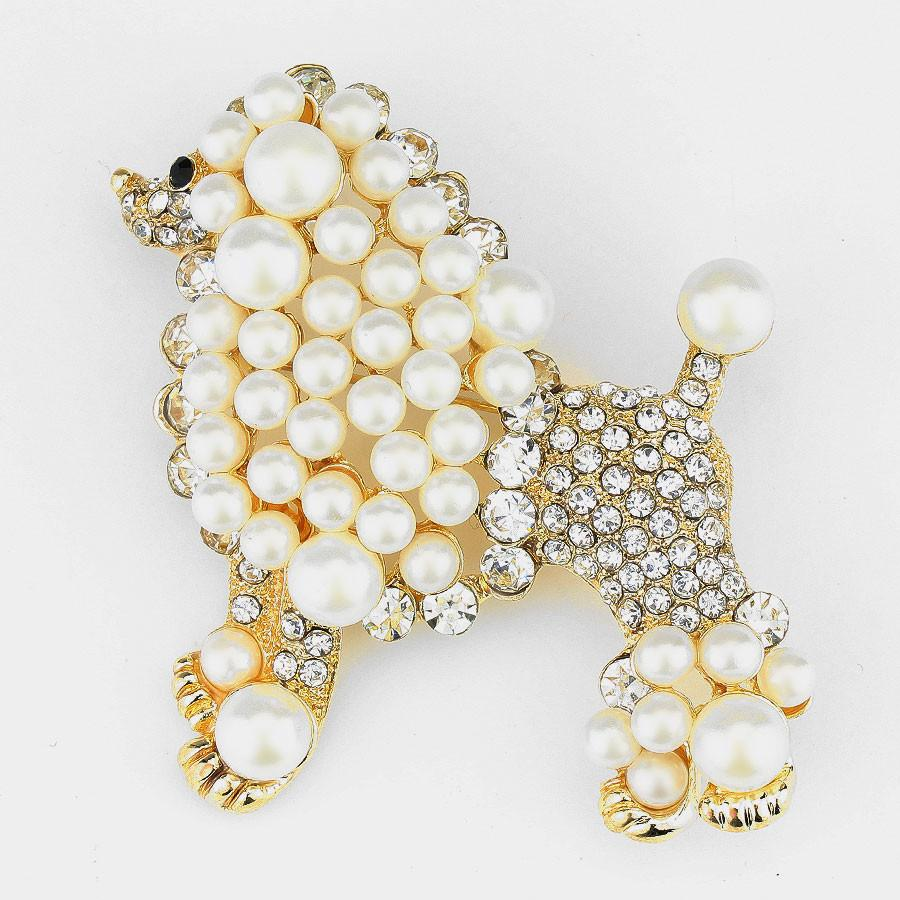 Gold Toned Sigma Gamma Rho Pretty Poodle Brooch (Front)